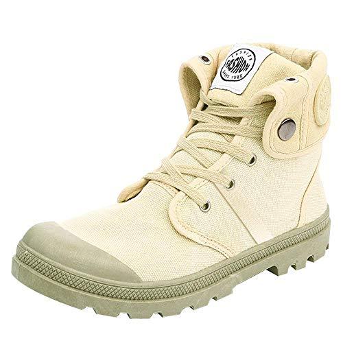 Damen Stiefel Palladium Style Fashion High-top Militär Ankle Schuhe Freizeitschuhe (EU38/CN39, Khaki)