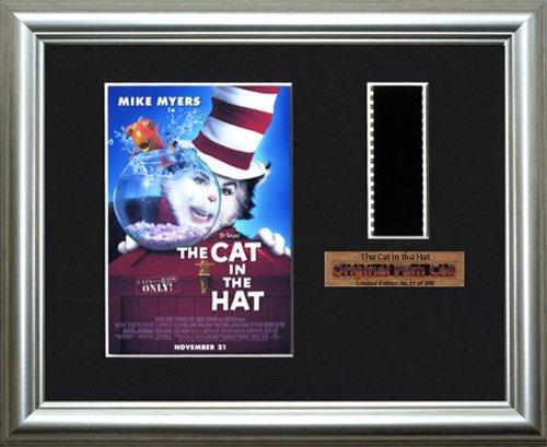 www.filmcellsdirect.com Gerahmtes Bild mit Filmstreifen, Motiv Katze im Hut