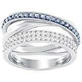 Swarovski Damen-Ring HERO Metall Swarovski Kristalle silber, 58 (18.5)