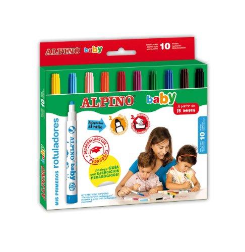 ROTULADOR ALPINO BABY 10colores