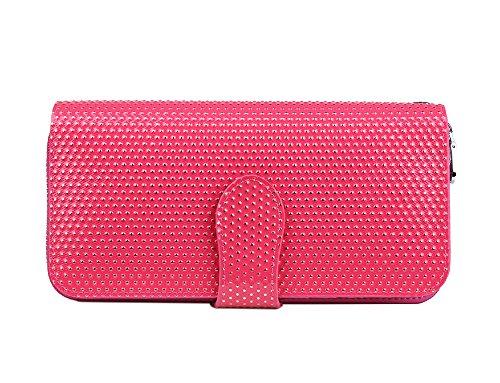 Genda 2Archer Moda in Pelle Clip Portafoglio Borsa Delle Donne (19cm*3.8cm*9.8 cm) (Rosso 2) Rosso