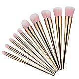 Frola, 10 pennelli da trucco per fondotinta, ombretto, fard, cipria, per miscele di cosmetici, MB142