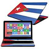 """MightySkins Skin For Razer Blade Pro 17"""" - Cuban Flag   Protective, Durable, and Unique Vinyl Decal wrap cover   Easy To Apply, Remove, and Change Styles   Made in the USA"""