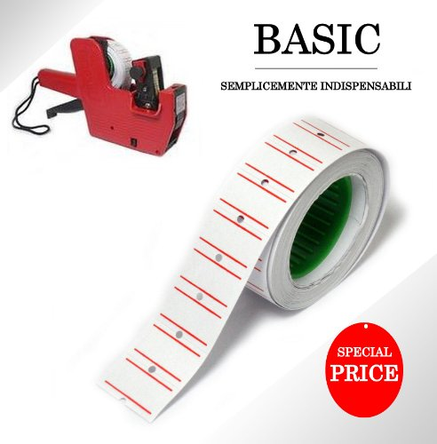 Preisvergleich Produktbild 10Stück Rollen Etiketten für Maschine Preisauszeichnungsgerät Shop Büro Preis