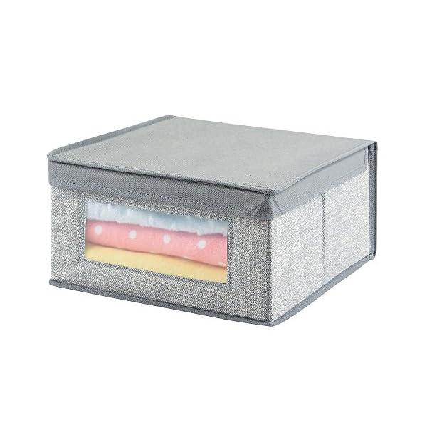 mDesign lot de 2 paniers de rangement pour b/éb/é lingettes etc gris organiseur de couches sur la table /à langer dans la chambre d/'enfant id/éal pour le stockage de jouets dans les tiroirs