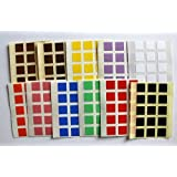Mixed Colours. 165 Labels, 10mm Square Shape, Self-Adhesive Stickers, Minilabel Shapes