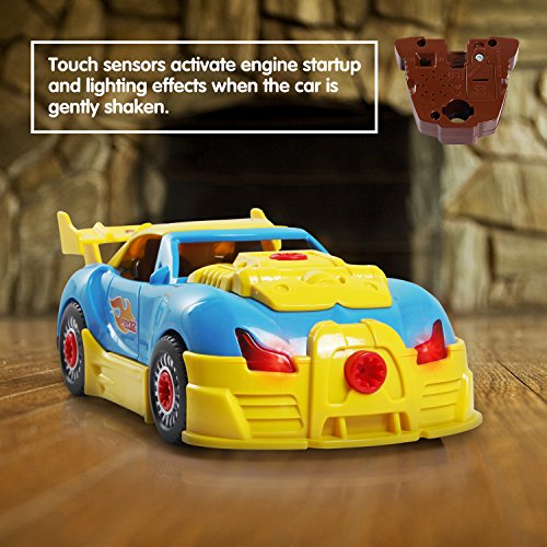 SGILE Coche de Desmontar Race Car 30 Piezas Mejoradas Herramientas Taladro Kit de Construccion de Juguete Educativo con Luces y Sonidos  el mejor regalo para niños