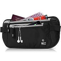 Money Belt for Travelling, BEZ�?? Hidden Travel RFID Money Belt Waist Pouch, Waterproof, Lightweight Passport Travel Wallets