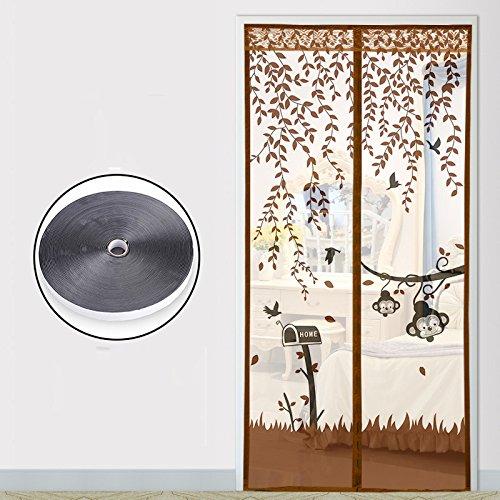 Im Sommer von magnetischen anti mücken Klett vorhang,, Küche, schlafzimmer - vorhang einfache Tür magnetstreifen - Fenster-E-130x200cm(51x79inch)