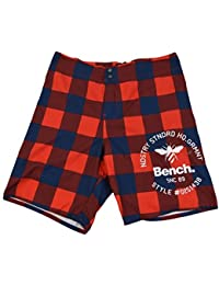 Bench Shorts La bosse, rouge bleu à carreaux
