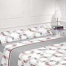 Energy Colors Textil Hogar - Nisia - Juego Sábanas Completo Lisas 3 Piezas (Gris,