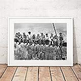 Danjiao Mittagessen Auf Einem Wolkenkratzer New York City Vintage Poster Drucke Schwarz Weiß Mittagessen Ein Top Foto Leinwand Gemälde Home Wall Art Decor Wohnzimmer 60x90cm