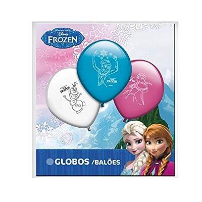 ALMACENESADAN 0686, Pack 16 Globos Disney Frozen; para Fiestas y cumpleaños. Ideal para Decorar Tus Fiestas. por ALMACENESADAN