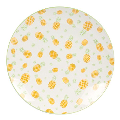 TABLE PASSION - LOT DE 6 ASSIETTES A DESSERT 20 CM PORCELAINE TROPIC