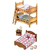 Sylvanian Families - Two Bed Sets Together - Double Bunk Bed & Semi-Double Bed by Sylvanian Families