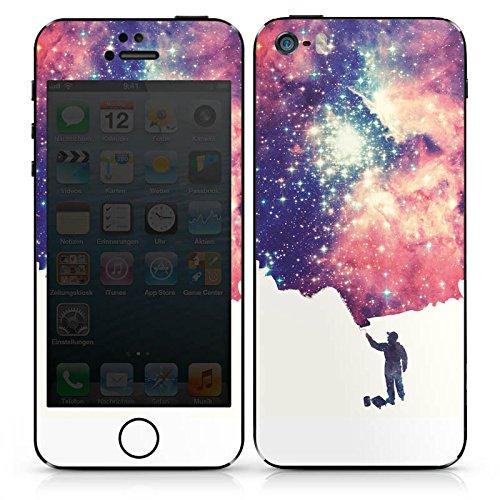 Apple iPhone SE Case Skin Sticker aus Vinyl-Folie Aufkleber Universum Space Grafik DesignSkins® glänzend