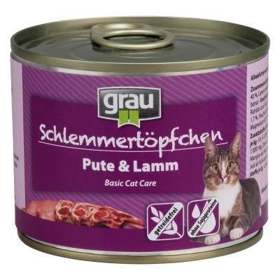 Grau Schlemmertöpfchen getreidefrei 6 x 200 g (Grau Kitten)