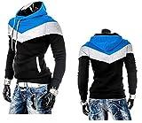 Hippolo uomo Slim con cappuccio giacca cappotto Outwear felpa nero Black M