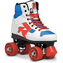 Roces Rollerskates Disco Palace - Patines en paralelo, color blanco (white-blue-red), talla 35