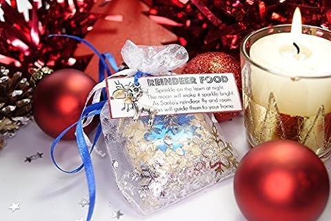 Christmas Magical Reindeer Food Oats Glitter Festive Santa Craft Rudlolf Rudolph Charm* by FunkOn