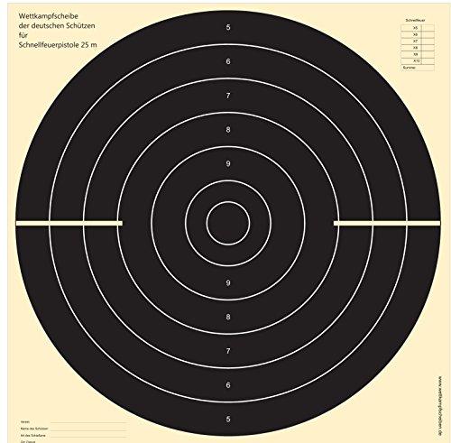 100 Cibles pistolet vitesse 25 m