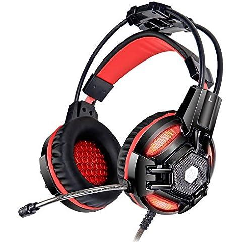 XIBERIA E2 3.5mm Cómodo Auriculares Sobre la oreja de Estéreo Bajo para Juegos de PC con