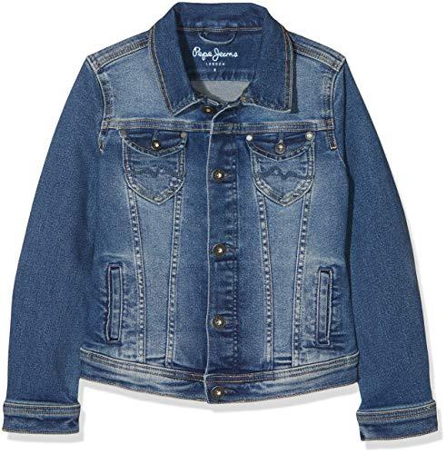Pepe jeans new berry giacca, (denim gl0), 11-12 (taglia produttore: 12 anni) bambina