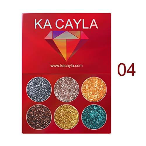 ReooLy KA CAYLA 6 Farben Makeup Lidschatten Lidschatten-Palette Kosmetik Set Lidschatten