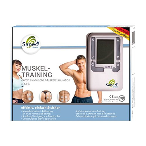 SaneoSPORT Muskeltraining * EMS Gerät * Muskelstimulator * deutsche Markenqualität * Medizinprodukt -