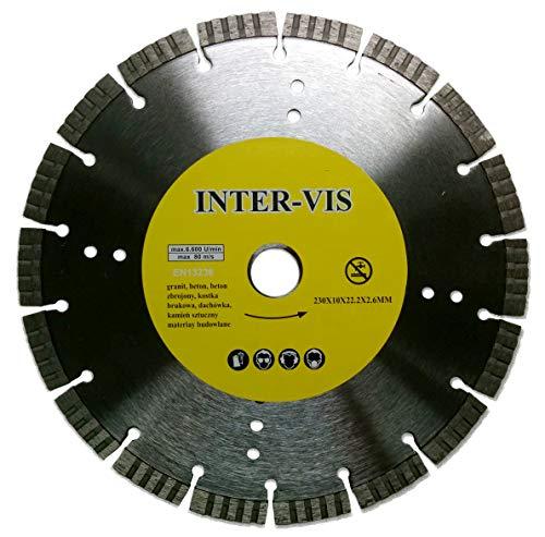 Diamant-Trennscheibe 230 x 22.2 mm, Segmentiert, InterVis Turbo EN13236