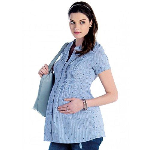 Chemisier de grossesse et allaitement rayé Multicolore