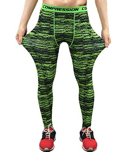 Leggings de Compresión para Hombres Mallas Térmicas Fitness de Running Deportes Pantalones XL