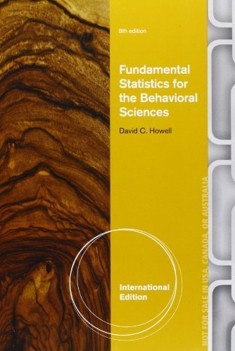 Fundamental Statistics for the Behavioral Sciences (International Edition) by Howell, David C. (2013) Paperback