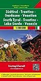 Südtirol - Trentino - Gardasee - Venetien, Autokarte 1:200.000, freytag & berndt Auto + Freizeitkarten - Freytag-Berndt und Artaria KG