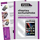 dipos I 2X Schutzfolie klar passend für Archos Diamond 2 Plus Folie Bildschirmschutzfolie