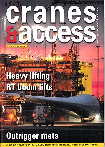 Boom Lift (Cranes & Access (US) 7 2016 Heavy lifting RT boom lifts Zeitschrift Magazin Einzelheft Heft Kranbühnen Arbeitsbühnen Kräne Kran)