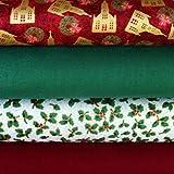 Weihnachten Stoff Fat Quarter Paket 100% Baumwolle