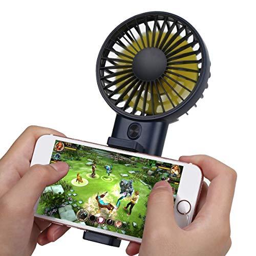 USB-Handventilator, Lüfter für tragbare Telefonhalter, weiche Luft und extrem leise, geeignet für Reisen, Heim und Büro,Mingblue Power Cap Batterie