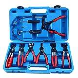 FreeTec 9PCS fascetta clip pinze set attrezzi estrattore universale tubo girevole jaw piatto angolato Band Automotive Tool kit di accessori per auto