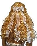 Haarschmuck/ Kopfschmuck/ Haarbänder mit Perlen und Rose Blüten Hochzeit Kommunion (weiß)