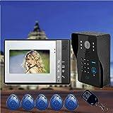 M-zmds 7-Zoll-Video-Türsprechanlage mit Türklingel und Gegensprechanlage mit drahtgebundener IR-Cut-Kamera-Nachtsicht, Unterstützung für Remote-APP-Gegensprechanlage, Entsperren, Aufnehmen, Schnappsch