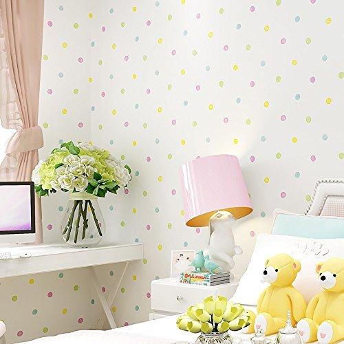 YOYO Papel tapiz 3D verde habitación infantil no tejida tienda completa color...