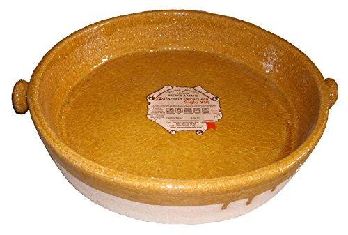 Alfarería Pereruela Siglo XVI Bacaladera de Barro refractario auténtico, Miel, 30 cm