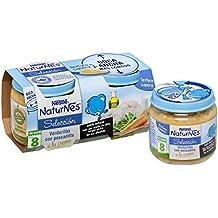 Nestlé Naturnes Selección Verduritas con Pescadilla a la Crema - A Partir de 8 Meses -Pack de 2 x 200 g - Total: 400 g