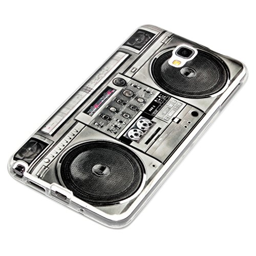 deinPhone Samsung Galaxy Note 3 Neo SILIKON CASE Hülle Ghettoblaster