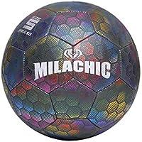 Garneck Balón de Fútbol Que Brilla en La Oscuridad Balón de Fútbol Iluminado para Niños Adultos Adolescentes Mascotas 22X22x22cm