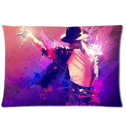 Michael Jackson - 16 x 24 Zoll), mit Reißverschluss, Baumwolle, Polyester, rechteckig, 2 Kopfkissenbezüge (Zahl) (Jackson Michael Reißverschluss)