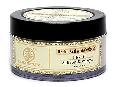 Khadi Saffron and Papaya Anti Wrinkle Cream, 50g