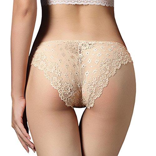 Dissa 2er Pack Z3004 Damen Panties Strings Tanga Beige