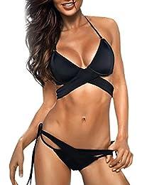 SOMESUN Sexy Bikini Donna Mare Push Up 2 Pcs Mini Brasiliana Vita Alta Mare  Brasiliano Lovers 18b4fb89bdf